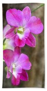 Pink Orchid Duo Beach Towel