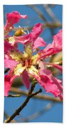 Pink Orchid Tree Beach Towel