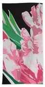 Pink Parrots Beach Towel