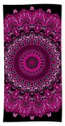 Pink Passion No. 7 Mandala Beach Towel
