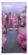 Pink Path To Paradise Beach Sheet