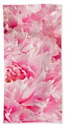 Pink Peony Bouquet Beach Sheet