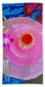 Pink Place Setting Beach Towel