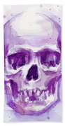 Pink Purple Skull Beach Towel