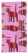 Pink Pussy Cat Beach Sheet