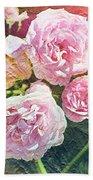 Pink Rose Artwork Beach Towel