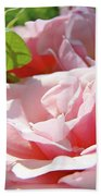 Pink Rose Flower Garden Art Prints Pastel Pink Roses Baslee Troutman Beach Towel