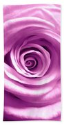 Pink Rose Macro Hdr Beach Towel