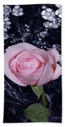 Pink Rose Of Imperfection Beach Towel