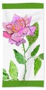 Pink Rose, Painting Beach Towel