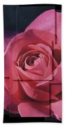 Pink Rose Photo Sculpture Beach Sheet