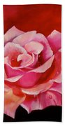 Pink Rose With Dew Drops Jenny Lee Discount Beach Towel