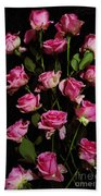 Pink Roses 1 Beach Towel