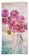 Pink Roses Beauty Beach Towel