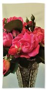 Pink Roses Bouquet 2 Beach Towel