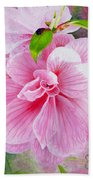 Pink Swirl Garden Beach Towel by Shelley Irish