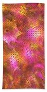 Pink Swirl Waves Beach Towel