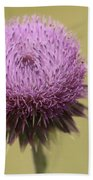 Pink Thistle Beach Towel