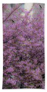 Pink Tree Beach Towel