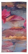 Pink Waterlilies Beach Towel