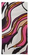 Pink Waves Beach Towel