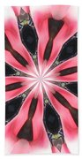 Pink White Petals Beach Towel