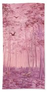 Pink Woods Beach Towel