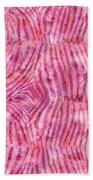 Pink Zebra Print Beach Towel
