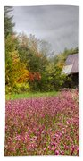 Pinks In The Pasture Beach Towel