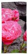 Pinks On The Rocks Beach Towel