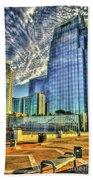 Pinnacle Building Sunset Nashville Shadows Nashville Tennessee Art Beach Towel