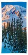 Pinnacle Saddle Winter Beach Towel