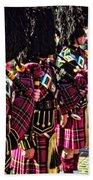 Pipers Three Beach Towel by Samuel M Purvis III