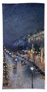 Pissarro: Paris At Night Beach Towel
