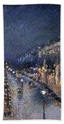 Pissarro: Paris At Night Beach Sheet