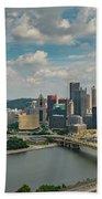 Pittsburg Skyline Beach Towel