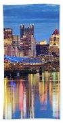 Pittsburgh 2 Beach Towel by Emmanuel Panagiotakis