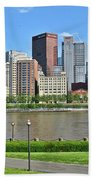 Pittsburgh From Just Outside Pnc Park Beach Towel
