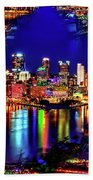 Pittsburgh Skyline Art Beach Towel