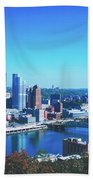 Pittsburgh Skyline Beach Towel