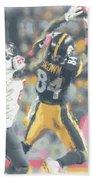 Pittsburgh Steelers Antonio Brown 2 Beach Towel