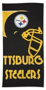 Pittsburgh Steelers Team Vintage Art Beach Towel