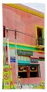 Pizzeria In La Boca Area Of Buenos Aires-argentina  Beach Towel