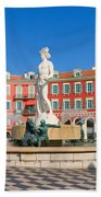 Place Massena Of Nice In France Beach Towel