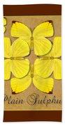 Plain Sulphur Butterfly Wheel Beach Towel