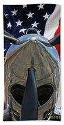 Planes Of Fame P-40c Warhawk Beach Towel