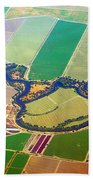 Planet Art Colorful  Midwest Aerial Beach Towel