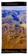 Planet Art Death Valley Mountain Aerial Beach Towel
