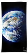 Planet Earth. Space Art Beach Towel