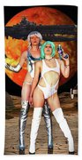 Planet Of The Space Vixens Beach Towel